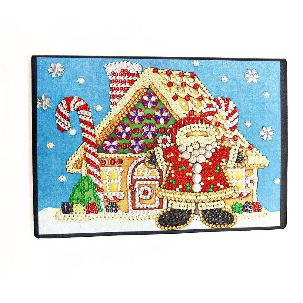 Santa's House - Diamond Painting A5 Notebook