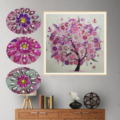 Pink Blossom Tree Gemstone - Diamond Painting Kit