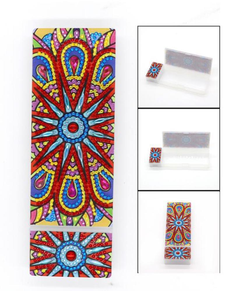 Blue and Red - Diamond Painting Pencil Case