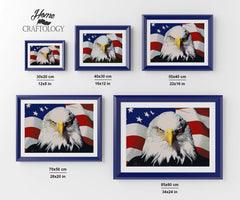 American Flag with Eagle Close-up - Diamond Painting Kit