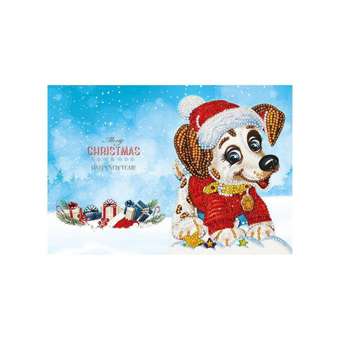 Set of 8 Christmas Greeting Cards Set D - Diamond Painting Kit