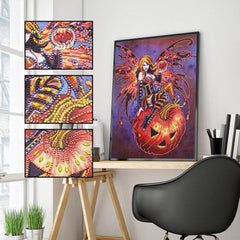 Halloween Fairy Gemstone - Diamond Painting Kit