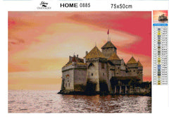 Chillon Castle - Diamond Painting Kit
