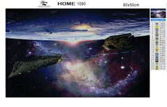 Space and Spaceships - Diamond Painting Kit