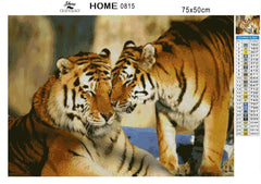 Tiger and Tigress - Diamond Painting Kit