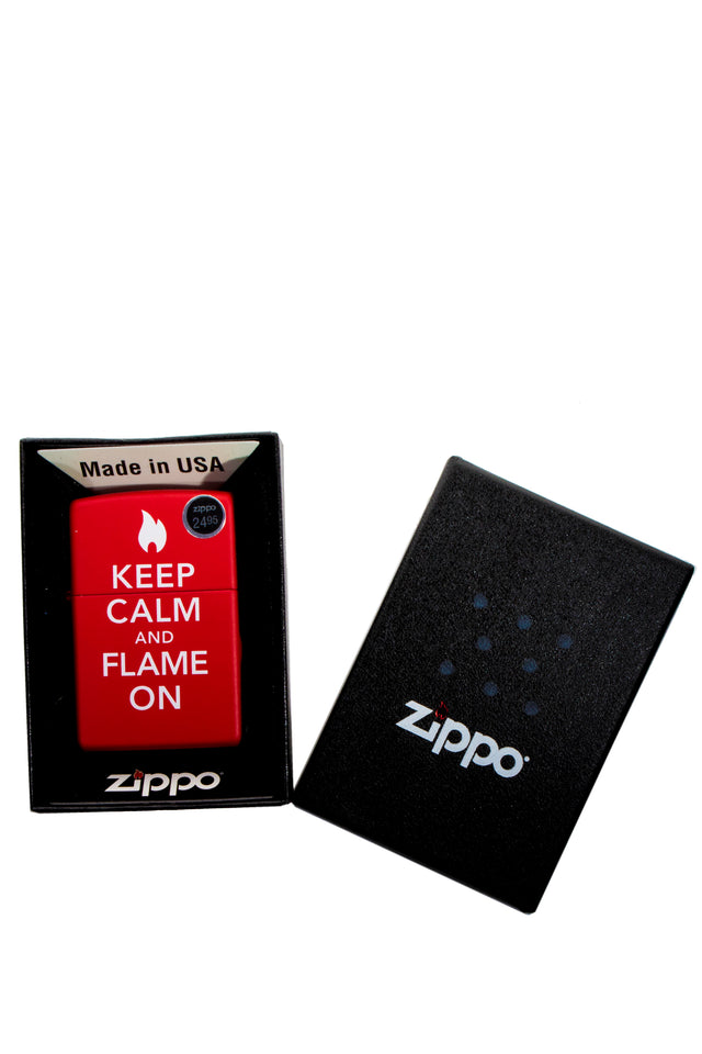 Zippo' Keep Calm and Flame on! Lighter