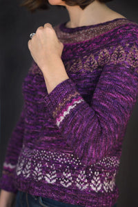 "The Night Forest Sweater Kit in ""Croquet Flamingo"""