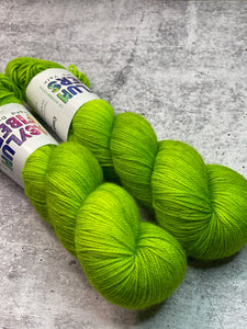 Pea Soup on Cashmere Sock - Ready to Ship