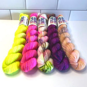 Set of 5 Shimmer Sock Minis - Ready to Ship