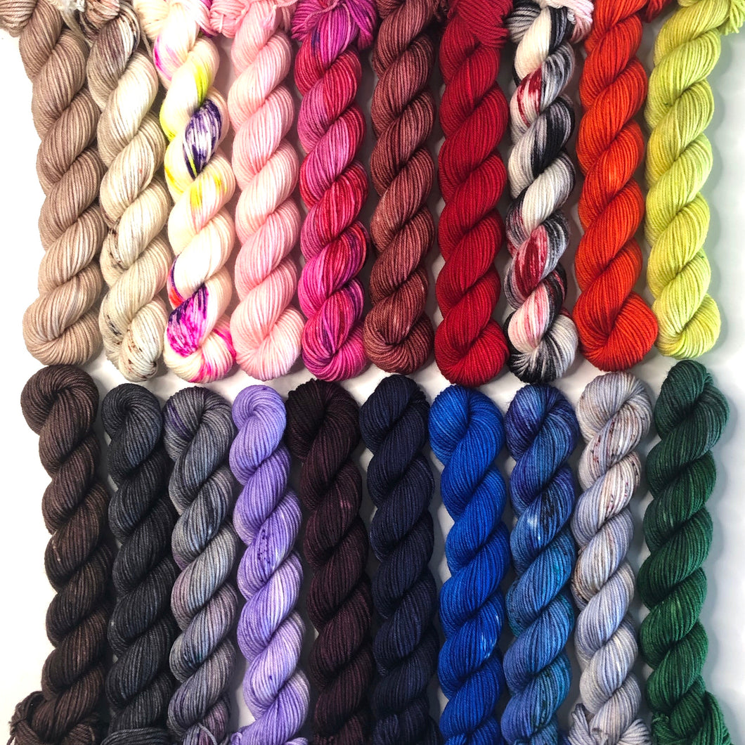 Mini Skein Set - Wonderland Collection- Merino Fingering