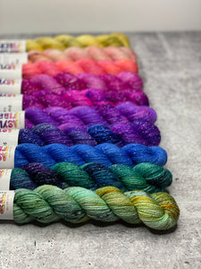 Mini Skeins - Signature Set - Stardust Sock - Ready to Ship