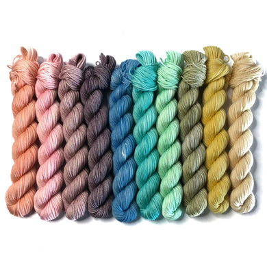 Mini Skein Set - Pastels - Merino Fingering