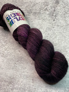 Mad Hatter on Cashmere Sock - Ready to Ship