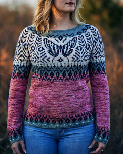 PREORDER - Swallowtail Sweater Kit in Merino Fingering - Combo E