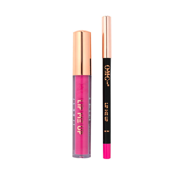 LIP ME UP Matte Liquid Lipstick & Lip Liner - Bubble Gum