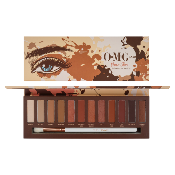 Oh My Glam Bare Skin Eyeshadow Palette