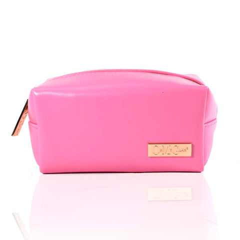 Hot Pink Makeup Bag