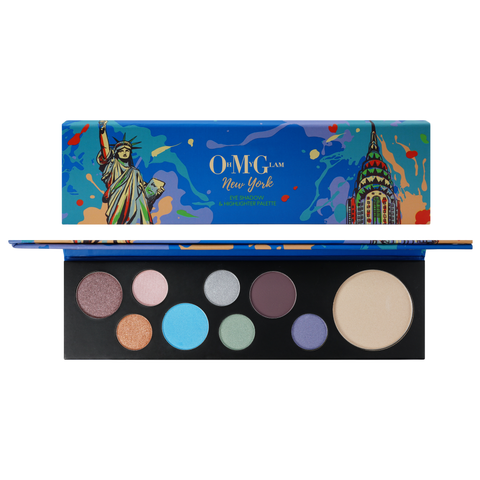 Oh My Glam New York Eye Shadow & Highlighter Palette