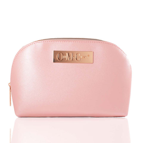 Pink Smooth Soft Sheen Makeup Bag (Large)