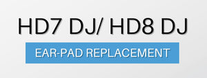 How to replace Earpads on Sennheiser HD7DJ & HD8DJ Headphones
