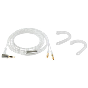 Final C81 MMCX Silver Coated Cable with 2.5mm Straight Plug with Ear Hook