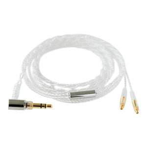 Final C81 MMCX Silver Coated Cable with 3.5mm Straight Plug - 1.2m
