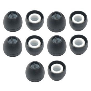 Sennheiser silicone ear tips small (5 pairs) - Black / White - 538240