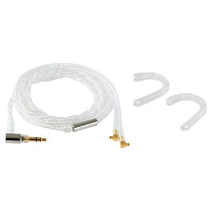 Final C71 MMCX Silver Coated Cable with 3.5mm L plug with Ear Hook - 1.2m