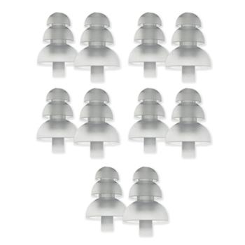 Etymotic ER38-15SML 3-Flanged Frost Eartips for Long Stem - 5 Pairs