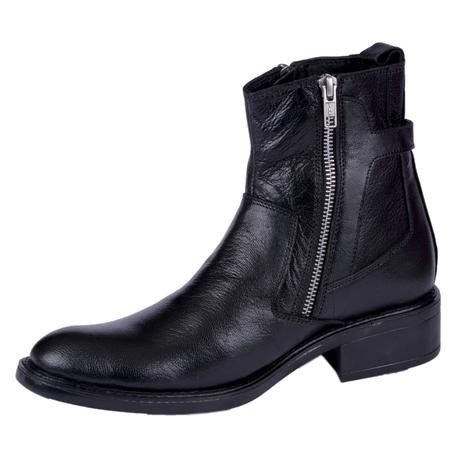 Men's Leather Zip Boots at Caga Shoes Store
