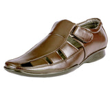 Men's High Toe Sandal Slip On with Monk Strap - CAGA SHOES