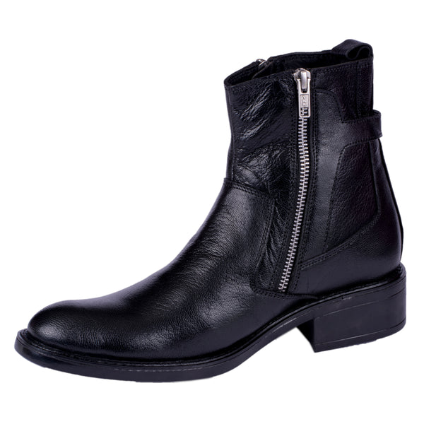 Men's Leather Zip Boots - CAGA SHOES