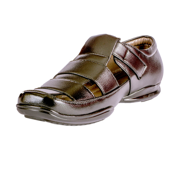 Men's Sandal Slip On with Monk Strap - CAGA SHOES