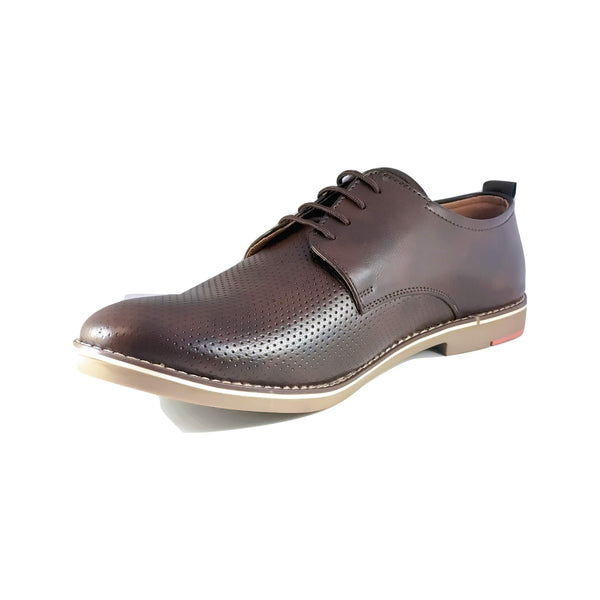 Men's Patterned Plain Toe Oxford - CAGA SHOES