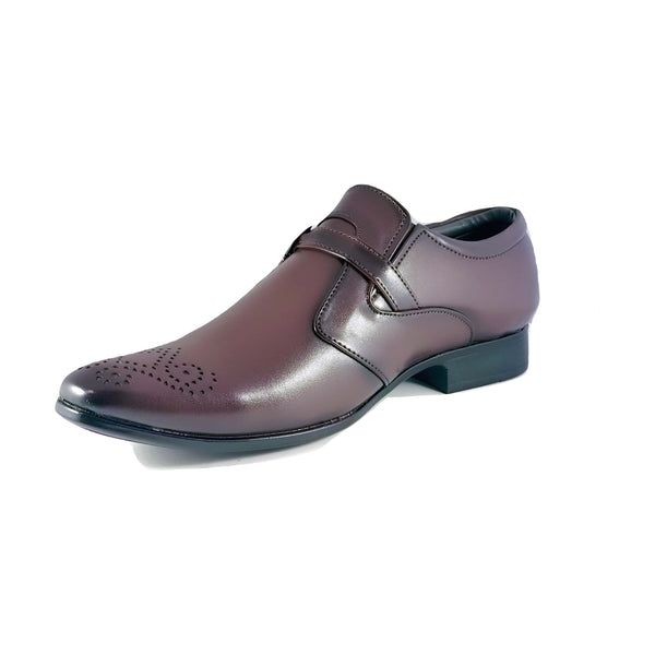 Men's Semi Brogue Monk Strap Shoes - CAGA SHOES