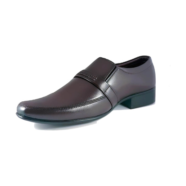 Men's Slip On With Patterned Mock Strap - CAGA SHOES