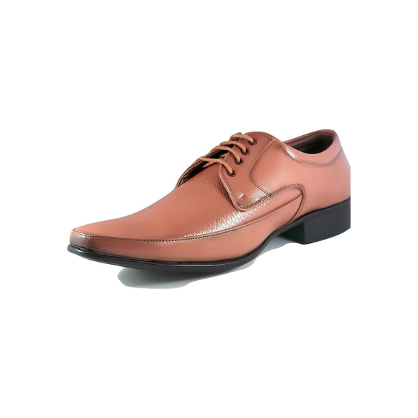 Men's Textured Plain Toe Oxfords - CAGA SHOES