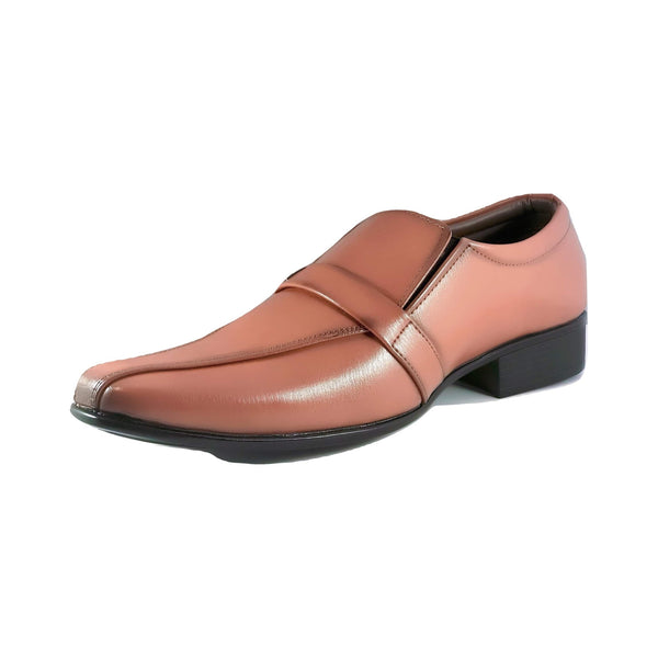 Men's Textured Slip On with Mock Strap - CAGA SHOES