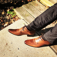 Close Toe Patterned Oxfords