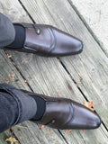 Cap Toe loafers for men