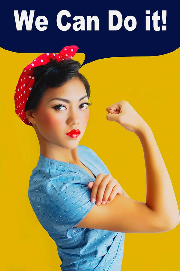 Kitana Closet as Rosie the Riveter