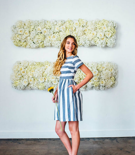 KAI Dress Navy and white striped from the Fall Collection  7218c40e4