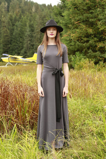 Alpine Chiffon Maxi Dress