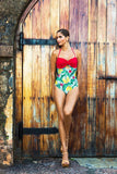 Plátano Swimsuit Red