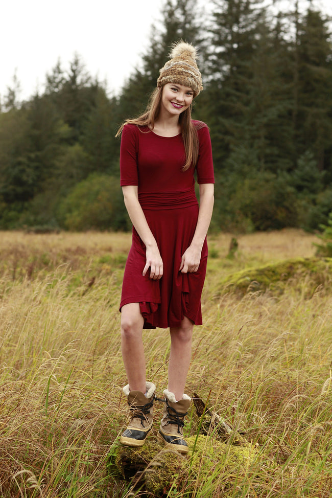 Melody Maroon Dress