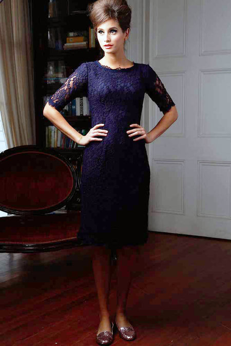 Esmeralda Sheath Dress Navy