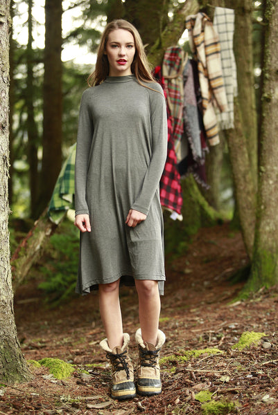 Livvy Swing Dress Grey