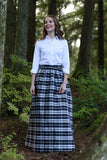 First Snow Black and White Plaid Skirt