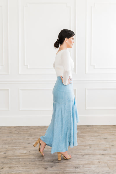 Chambray Swish Skirt