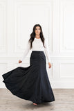 Black Ball Skirt
